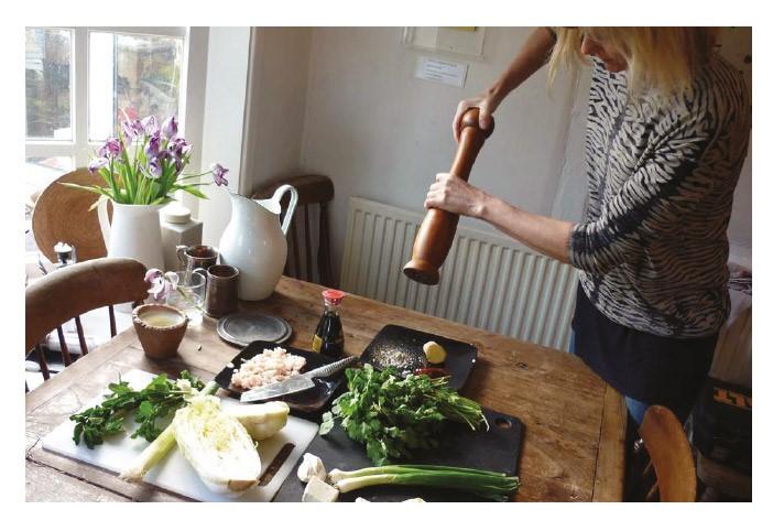 Linda Barker Cooking Dim Sum Wren Kitchen