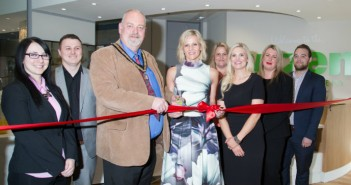Linda Barker and Barton Mayor Open Wren Training Academy