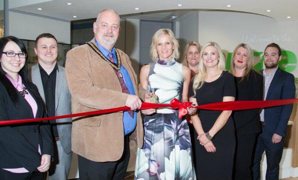 Linda Barker and Barton Mayor Open Wren Training Academy