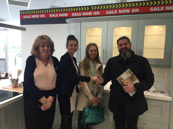 First Customers At New Wren Kitchens Showroom Liverpool