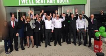 Wren Kitchens Team Outside New Aintree Showroom