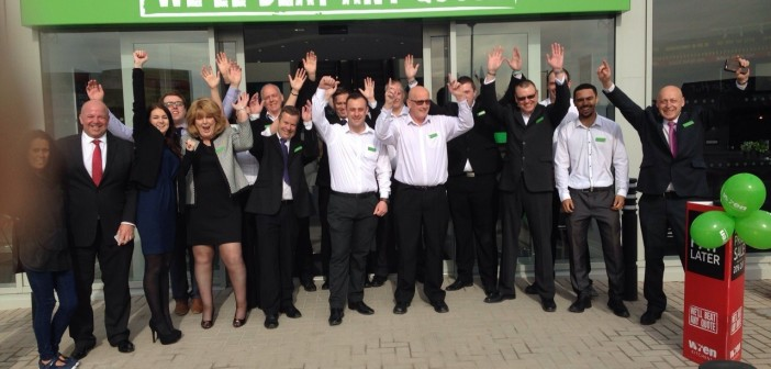 Wren Kitchens Team Outside New Aintree Showroom