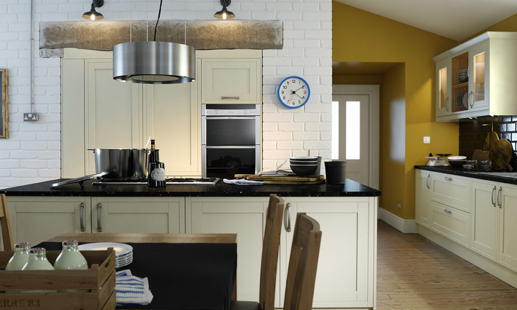 Wren Designer Range Framed Alabaster Timber Kitchen