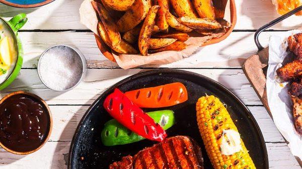 Tasty BBQ Food Platter