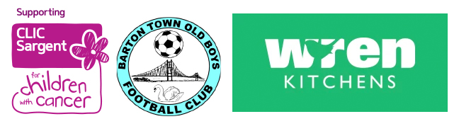 CLIC Sargent Barton Football Club Wren Kitchens Logo