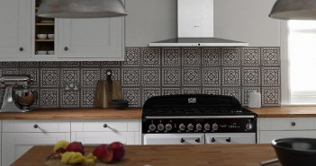 Wren Kitchen Patterned Tile Splashback