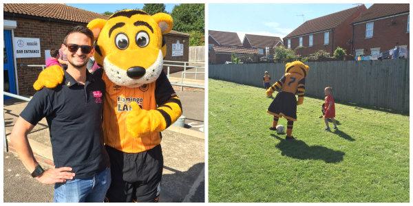 Hull City Mascots at Charity Football Match