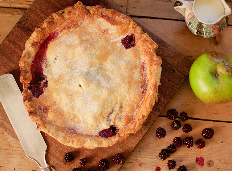 Grandma Brooks' hedgerow pie