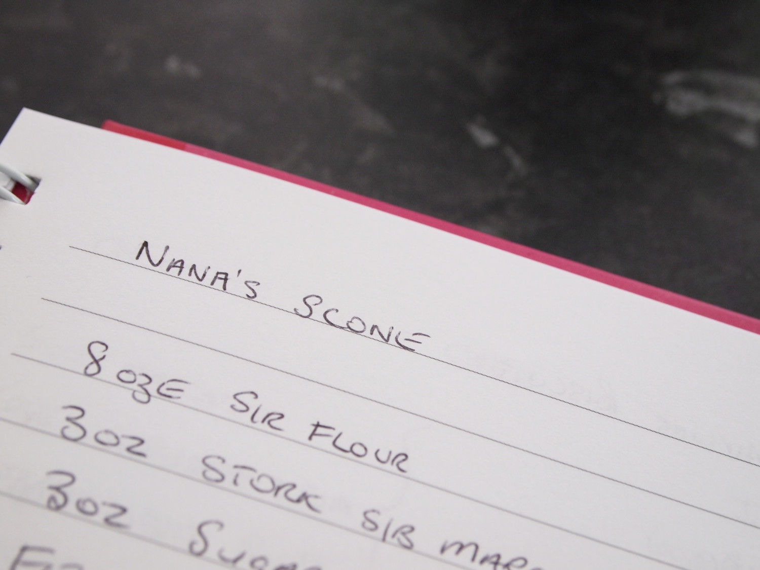 Nana's homemade scones