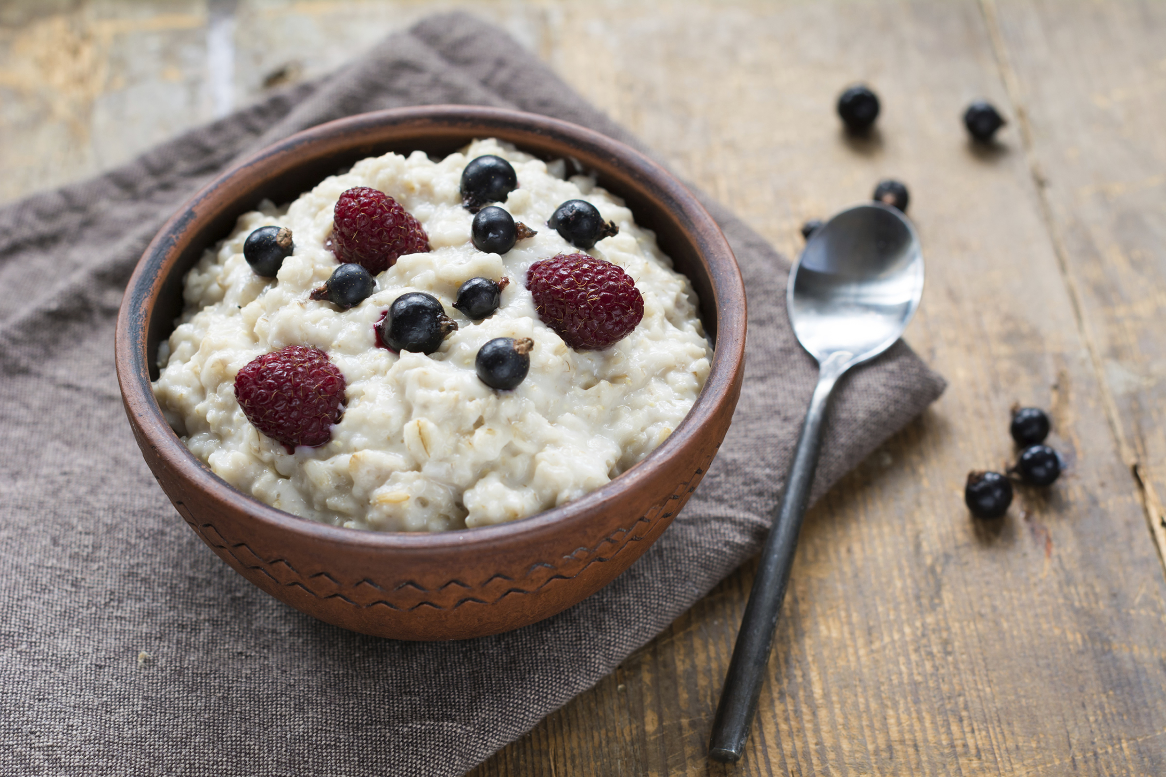Bowl of Porridge Oats with Dried Fruit