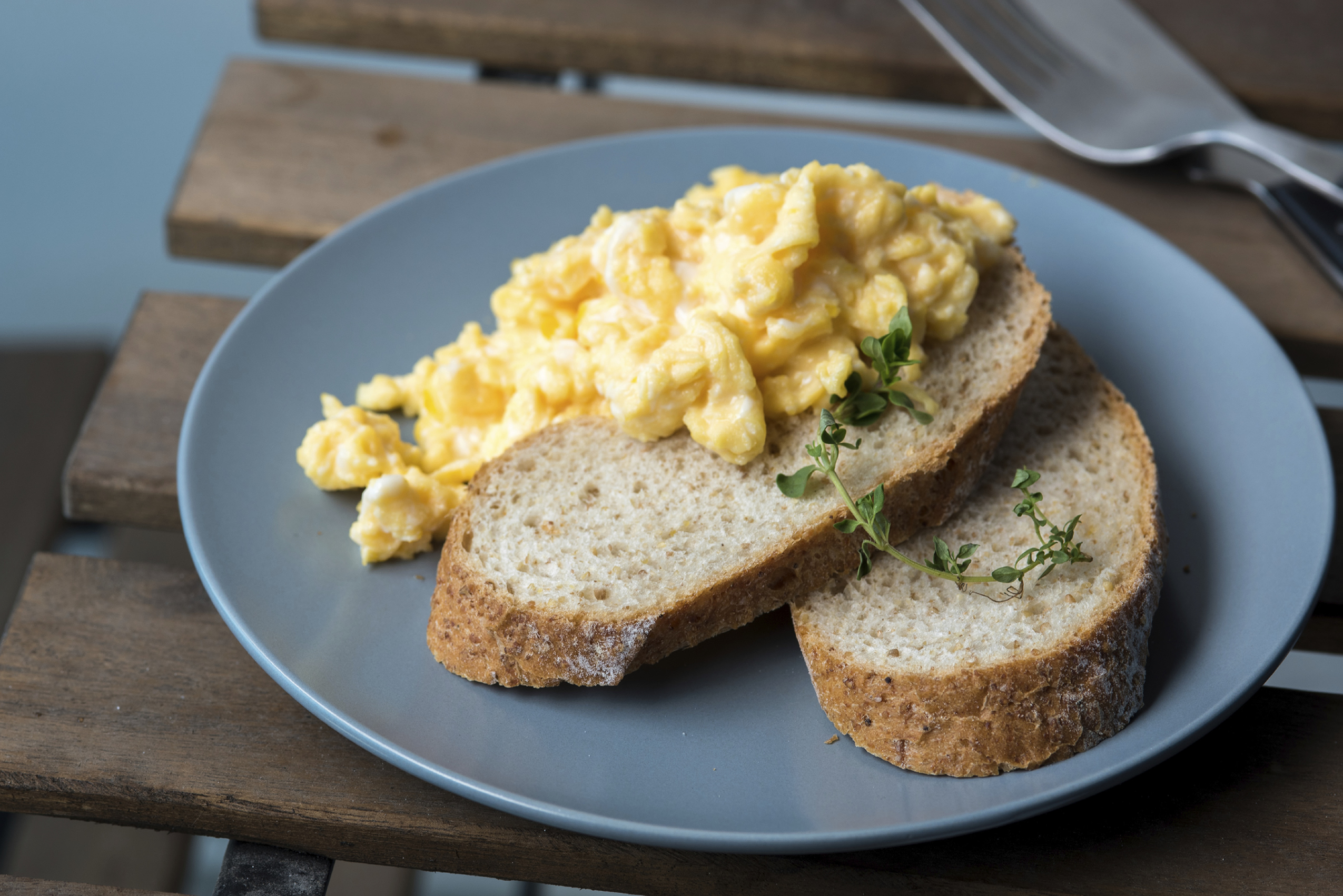 Scrabled Egg on Wholegrain Toast