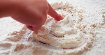 Children Baking with Flour