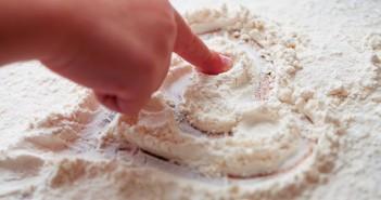 Children Baking with Flour