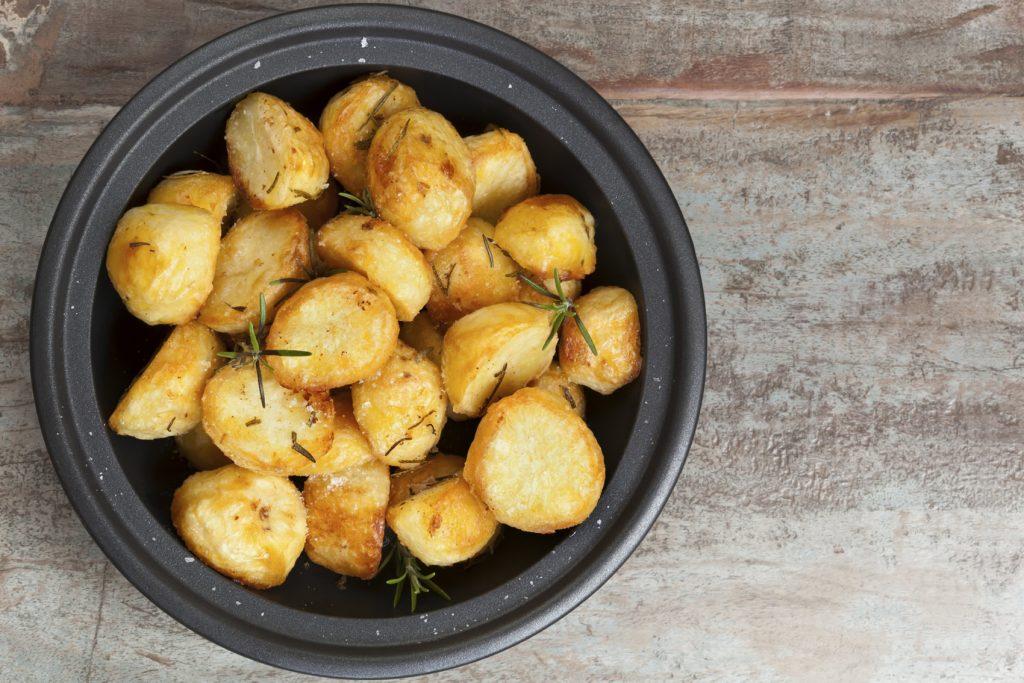 roast potatoes in a bowl