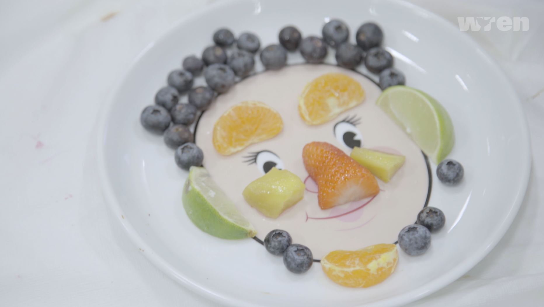 Fruit Face on a Plate