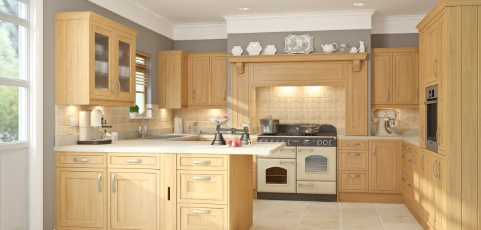 Light Oak Shaker Style Wren Kitchen