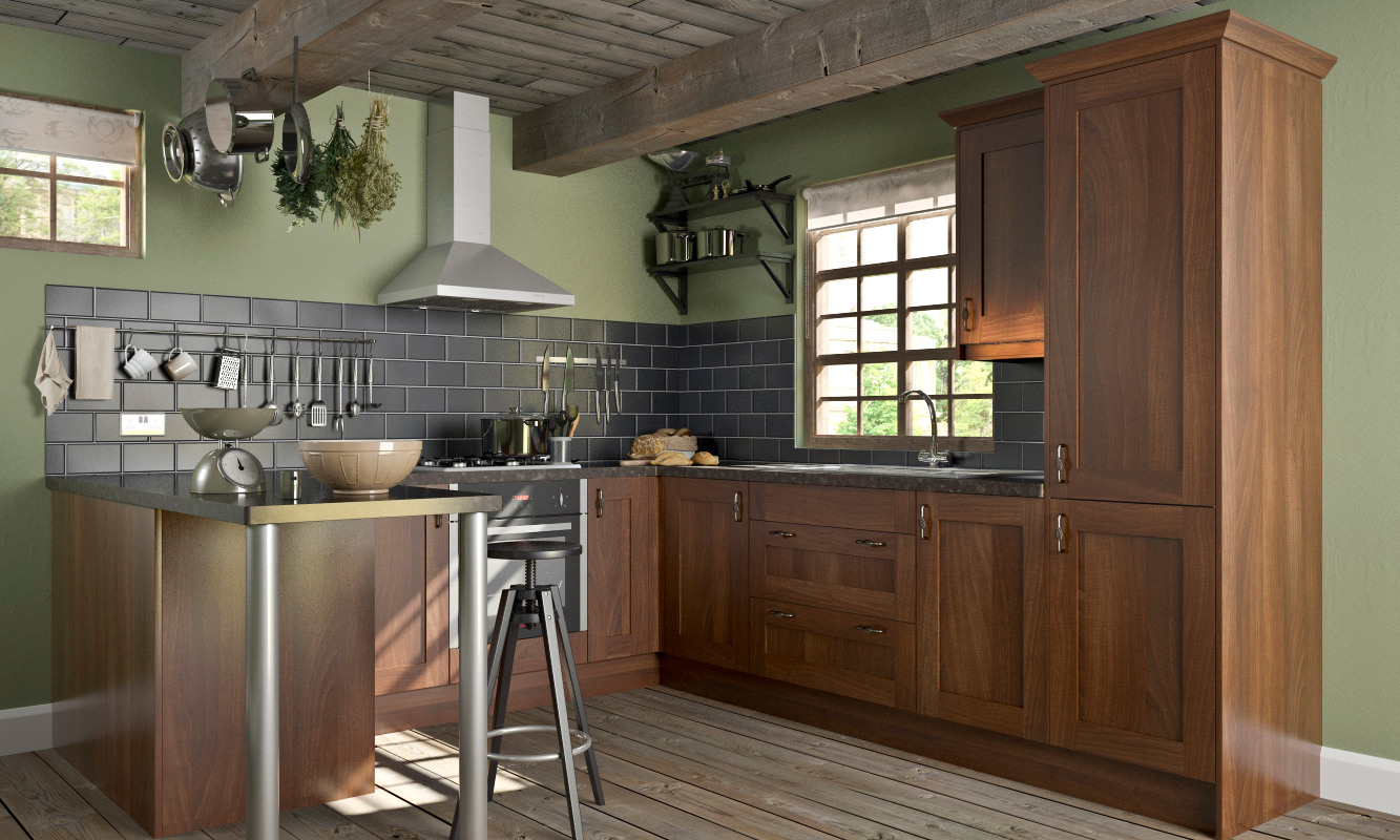 Country Style Wenge Shaker Wren Kitchen
