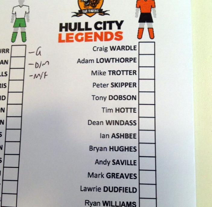 Ex-Hull City lineup