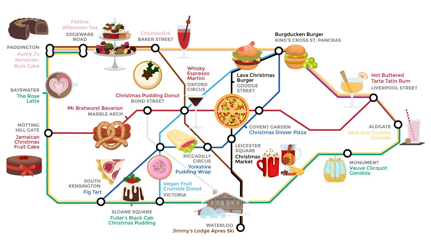 food tube diagram festive foods tube map of london wren kitchens  festive foods tube map of london wren