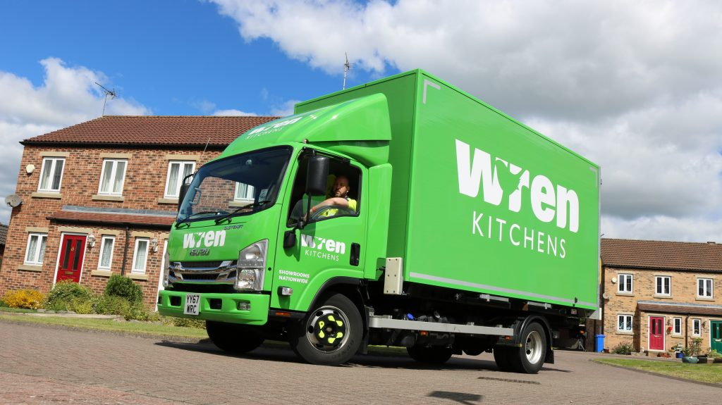 Wren Kitchens home delivery.
