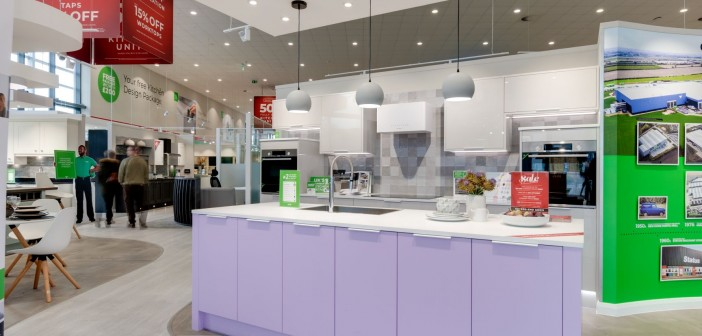 An example of a Wren Kitchens showroom