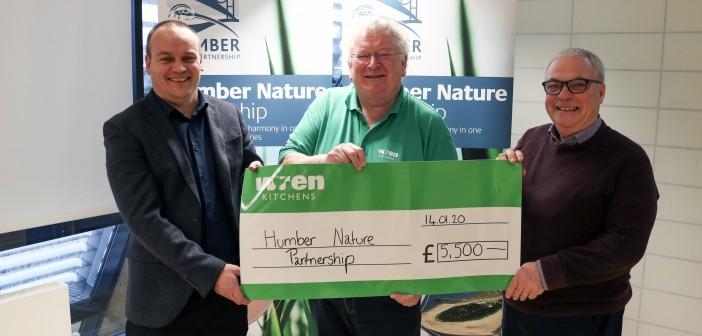 Humber Nature Partnership recieves £5,500 from Wren Kitchens