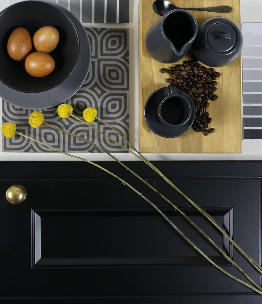 Wren Kitchens Black and Grey Mood Board