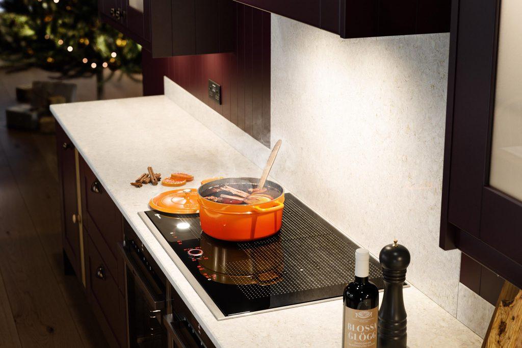 Wren Kitchens Shaker Aubergine range