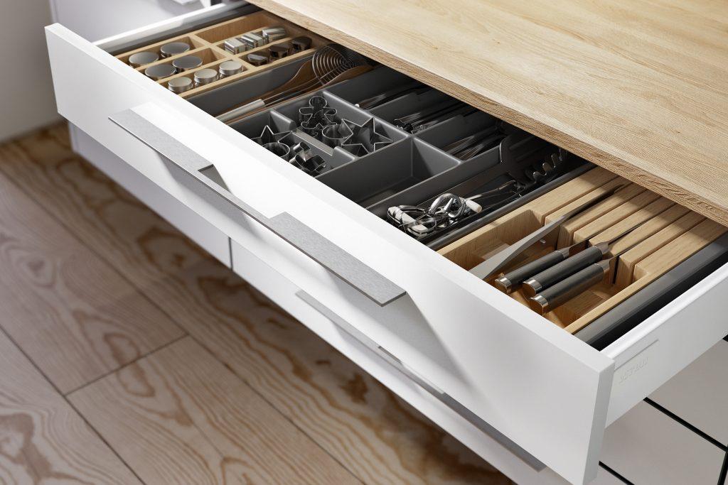 Cutlery drawer organiser Wren Kitchens