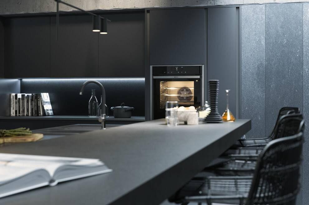 Loft-style kitchen - black design