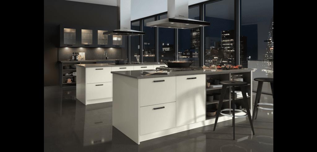 New York kitchen - sleek cabinets