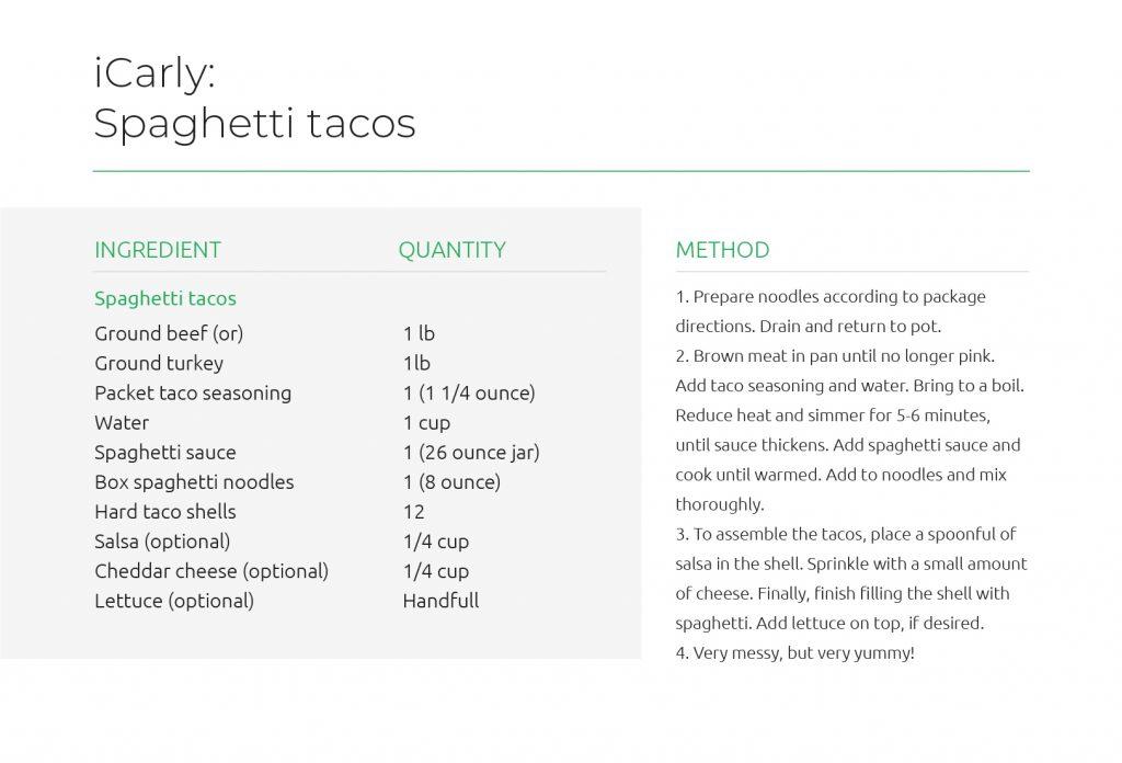 iCarly - Spaghetti tacos