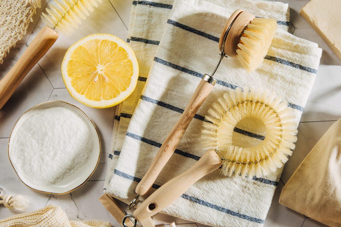 Lemon kitchen cleaning
